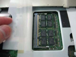 ノートPCのメモリー増設